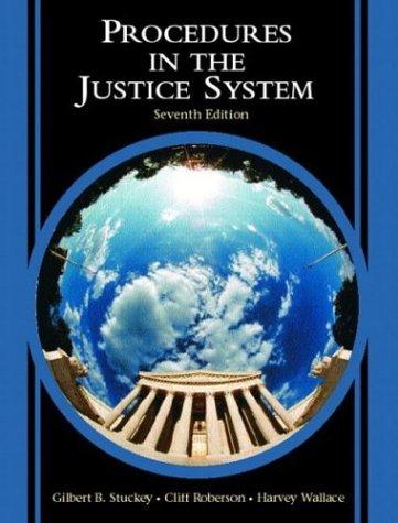 Download Procedures in the justice system