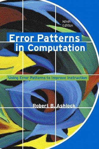 Error Patterns in Computation (9th Edition)