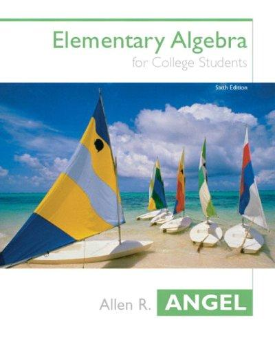 Elementary algebra for college students.