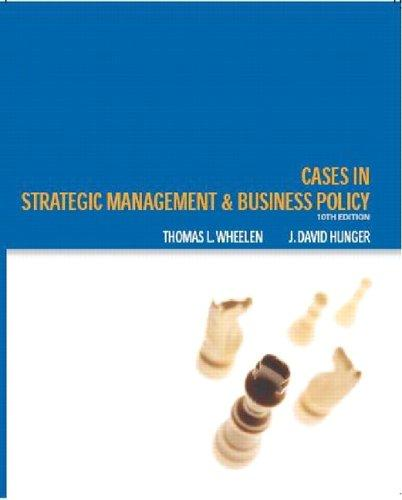 Strategic management and business policy.