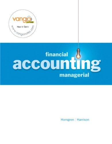 Financial/Managerial Accounting