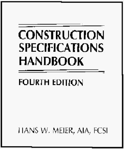 Download Construction specifications handbook