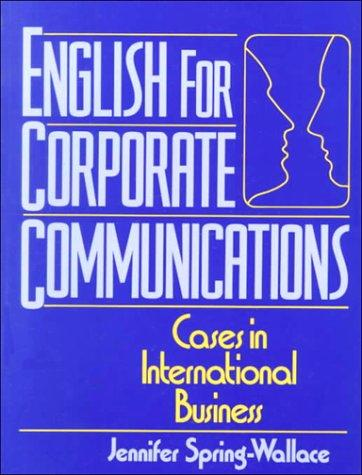 English for corporate communications