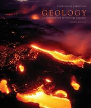 Geology (4th Edition) [Paperback] by Chernicoff, Stanley and Whitney, Donna