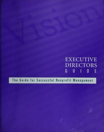 Cover of: Executive directors guide | Deborah Linnell