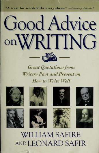 Cover of: Good Advice on Writing | William Safire