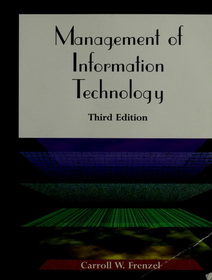 Management of information technology by Carroll W. Frenzel
