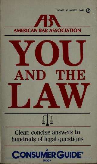 Cover of: You and the law | American Bar Association.
