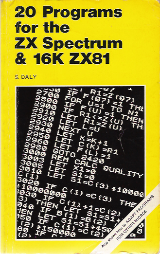 20 Programs for the ZX Spectrum and 16K ZX81 image, screenshot or loading screen