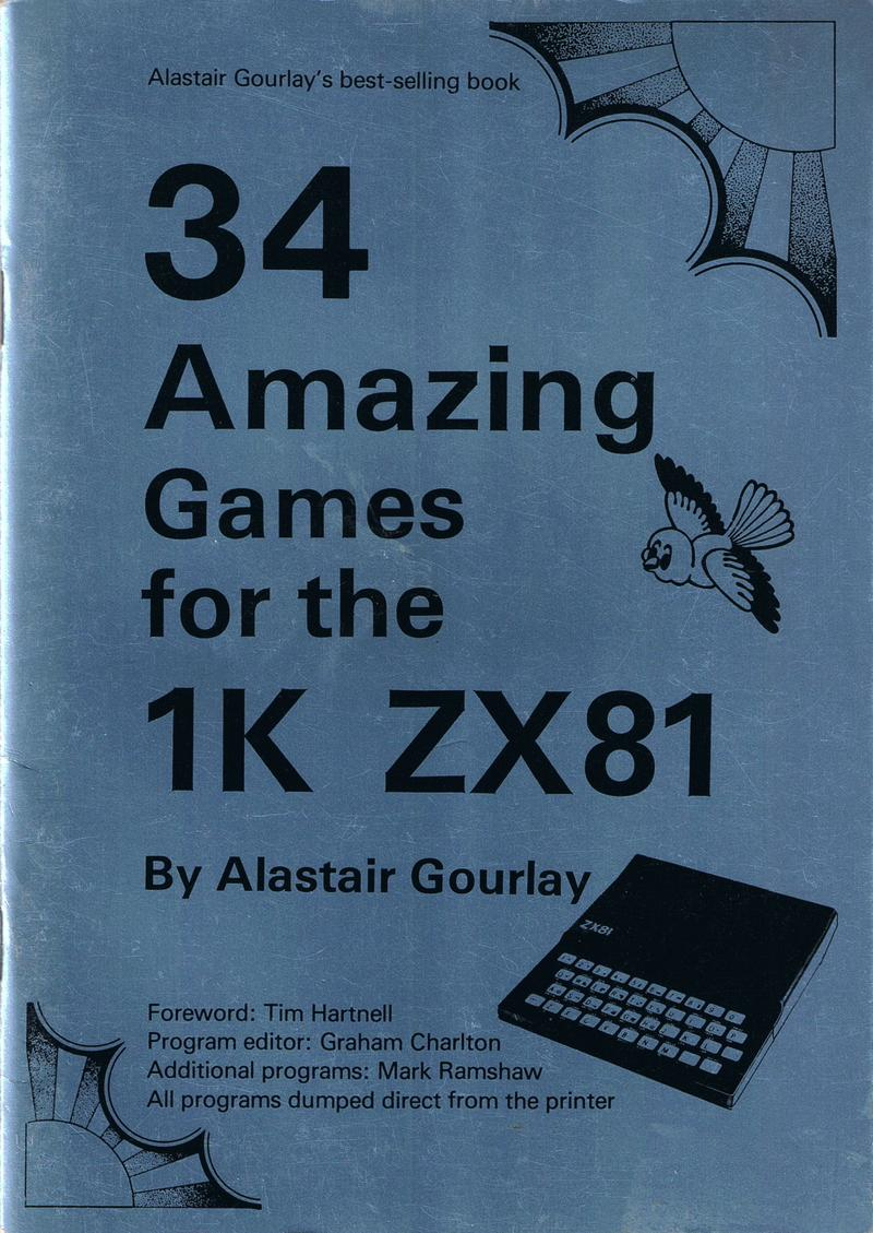 34 Amazing Games for the 1K ZX81 screen