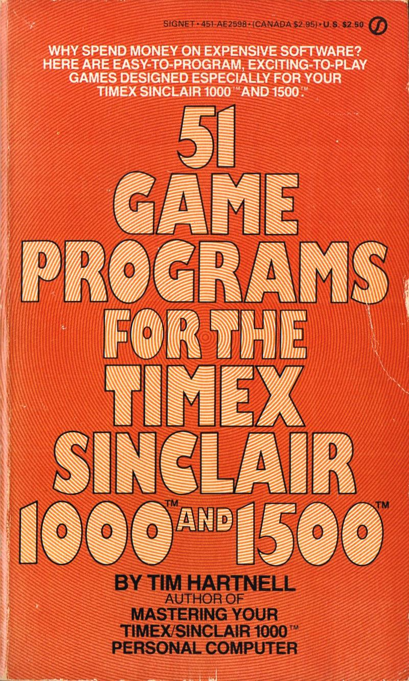 51 Game Programs for the Timex Sinclair 1000 and 1500 image, screenshot or loading screen