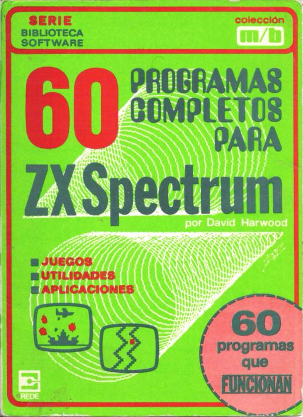 60 Games and Applications for the ZX Spectrum screen