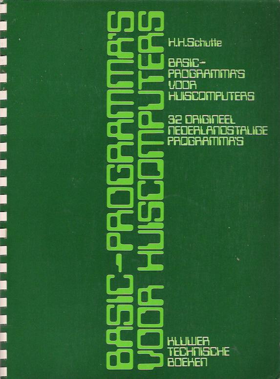 BASIC-Programma's voor Huiscomputers image, screenshot or loading screen