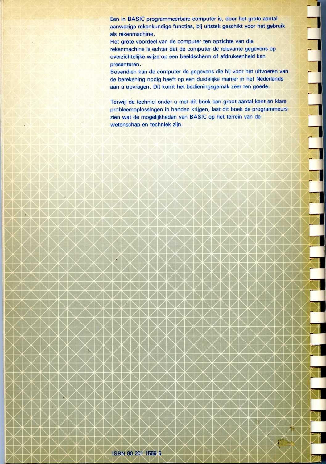 BASIC-Programma's voor Wetenschap en Techniek screen