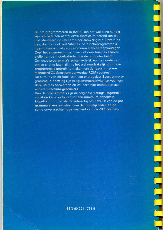 BASIC-Programma's voor ZX Spectrum Programmeurs image, screenshot or loading screen