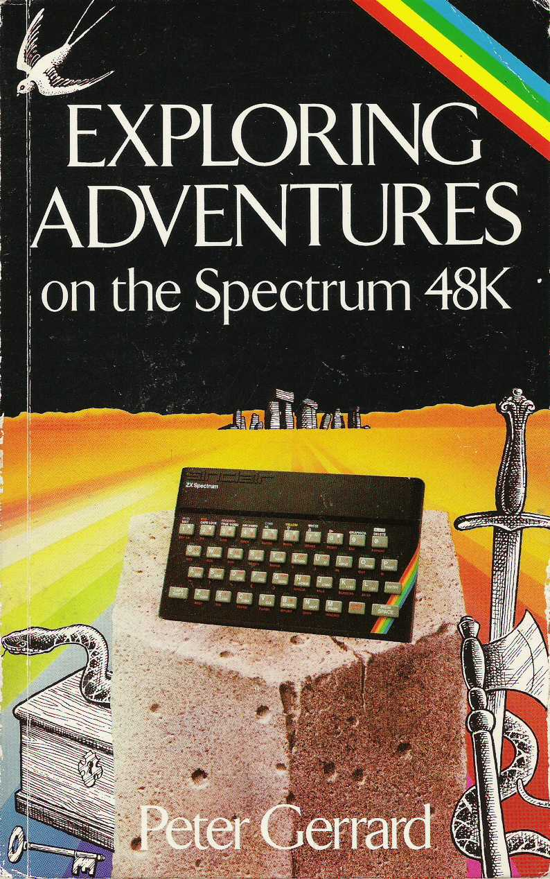 Exploring Adventures on the Spectrum 48K screen