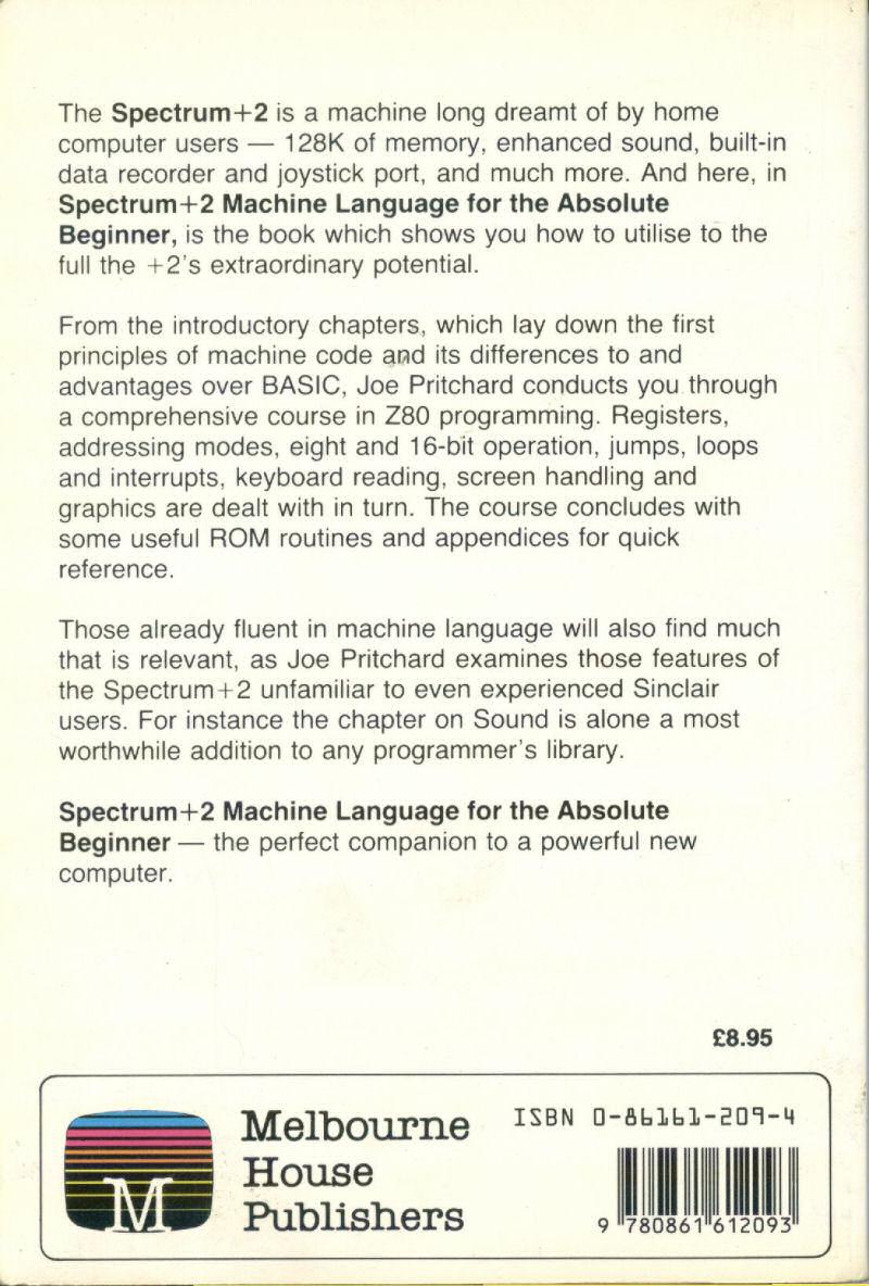 Spectrum+2: Machine Language for the Absolute Beginner screenshot