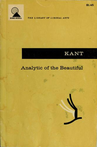 Analytic of the beautiful by Immanuel Kant