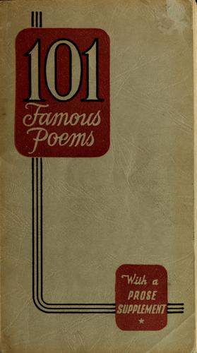 One hundred and one famous poems, with a prose supplement by Roy Jay Cook