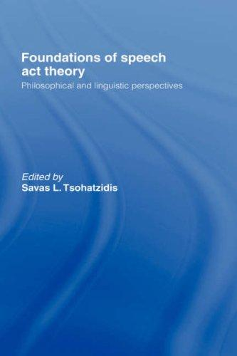 Foundations of speech act theory by
