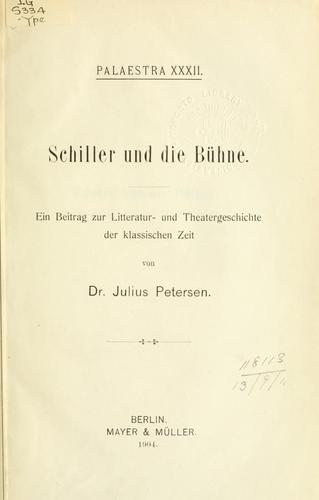 Schiller und die Bühne