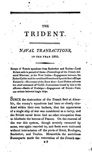 The British trident; or, Register of naval actions, from ... the Spanish armada to the present time by Archibald Duncan