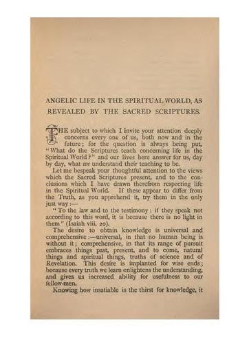 Angelic Life in the Spiritual World, as Revealed by the Sacred Scriptures by John Stuart Bogg