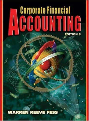 Corporate Financial Accounting by James M. Reeve