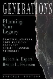 Generations : Planning Your Legacy (Esperti Peterson Institute Contributory Series)