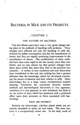 Bacteria in milk and its products by Herbert William Conn