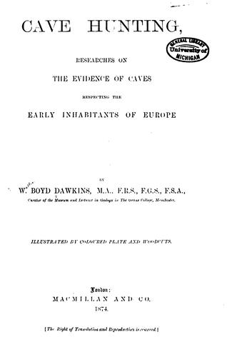Cave hunting by William Boyd Dawkins