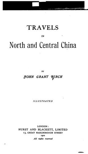 Travels in north and central China