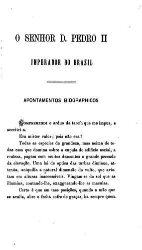 O Senhor D. Pedro II, imperador do Brasil
