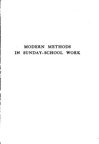 Modern methods in Sunday-school work by