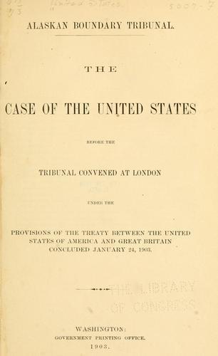 Alaskan boundary tribunal.