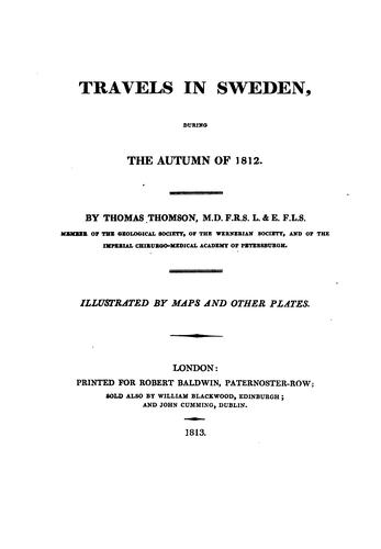 Travels in Sweden by Thomson, Thomas