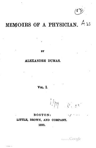 Memoirs of a physician …
