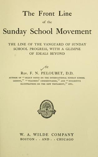 The front line of the Sunday school movement by