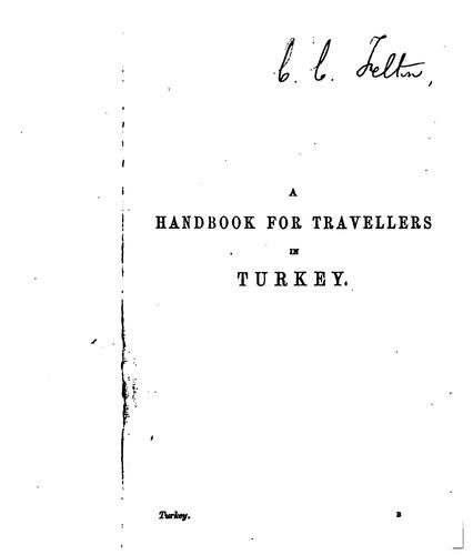 A handbook for travellers in Turkey by John Murray (Firm)