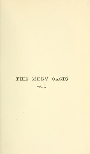 The Merv Oasis