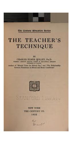 The teacher's technique