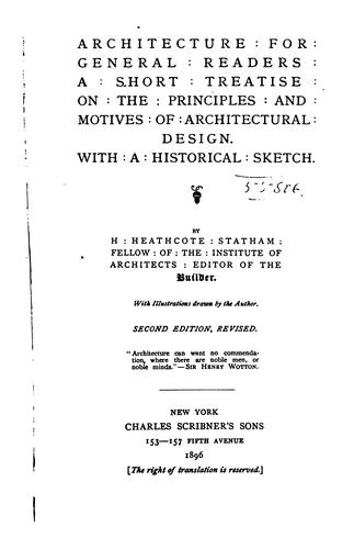 Architecture for general readers by Henry Heathcote Statham
