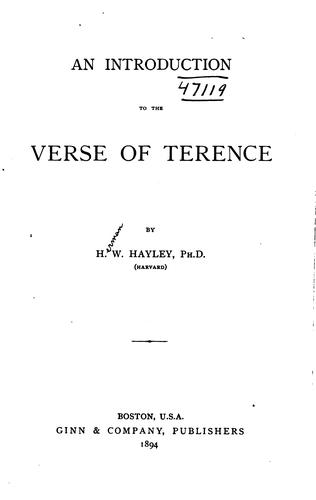 An introduction to the verse of Terence