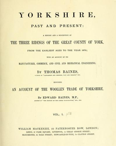 Yorkshire, past and present