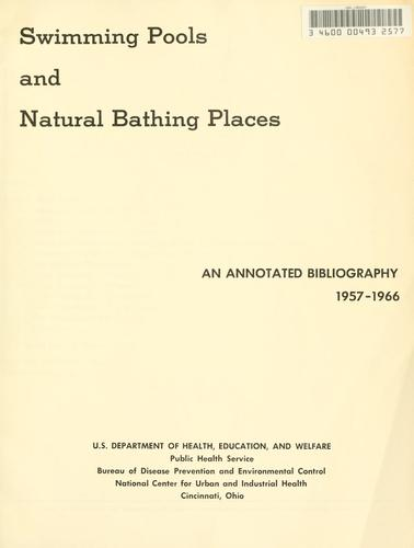 Swimming pools and natural bathing places by National Center for Urban and Industrial Health (U.S.)