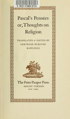Pascal's Pensées