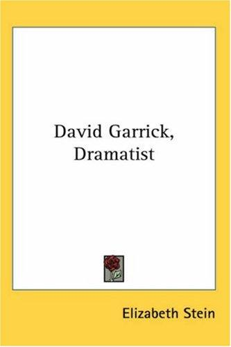 David Garrick, Dramatist