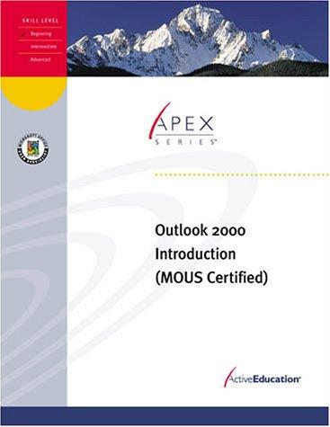 Outlook 2000 Introduction by ActiveEducation