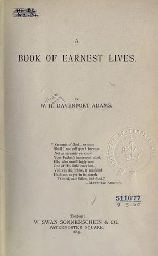 A book of earnest lives.