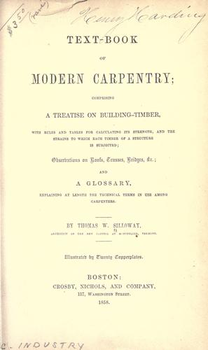 Text-book of modern carpentry